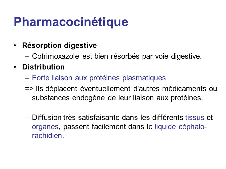 Pharmacocinétique Résorption digestive