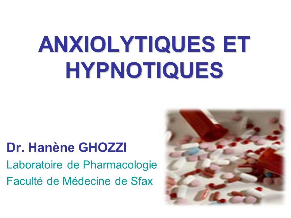 ANXIOLYTIQUES ET HYPNOTIQUES