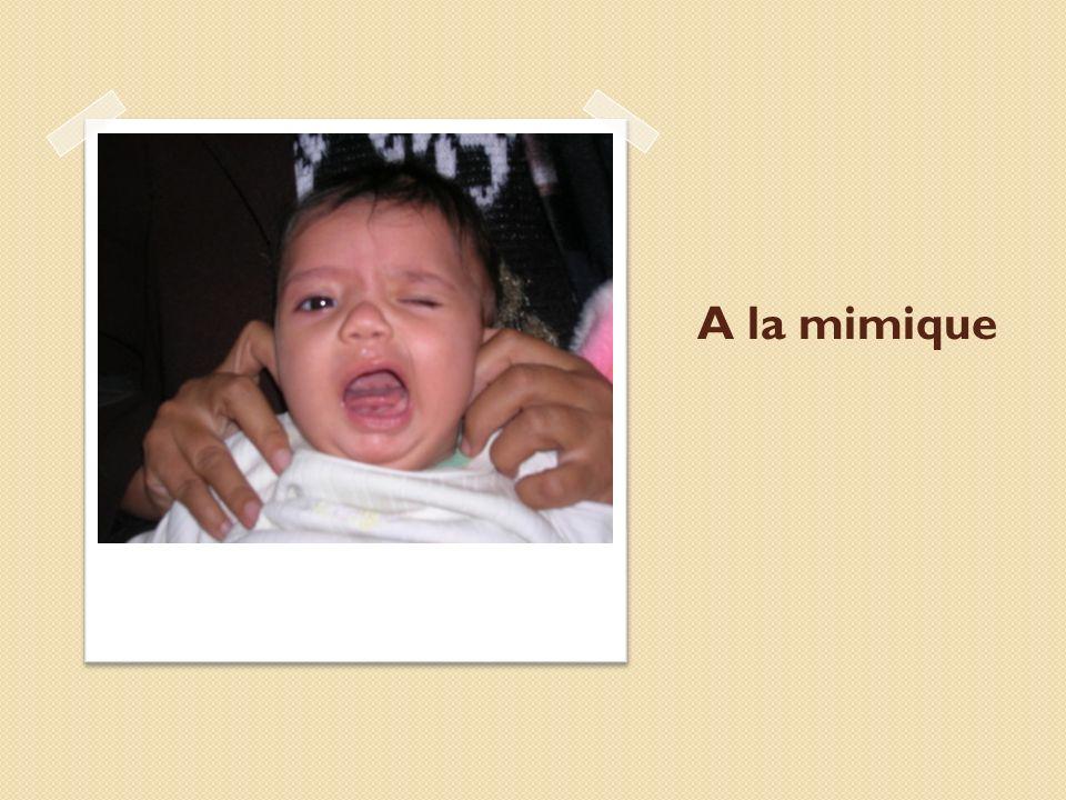A la mimique