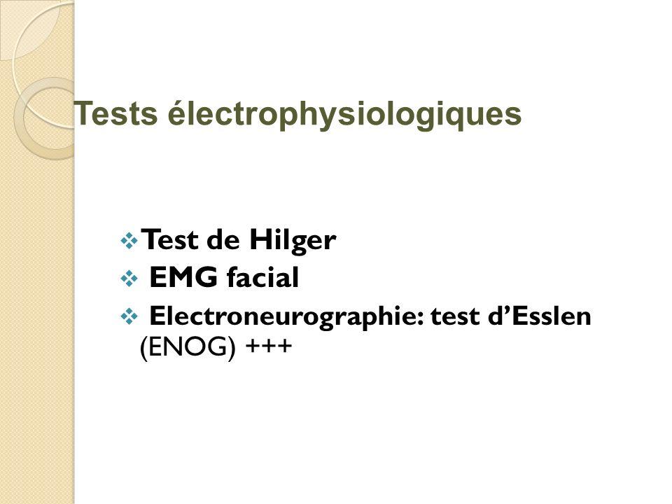 Tests électrophysiologiques
