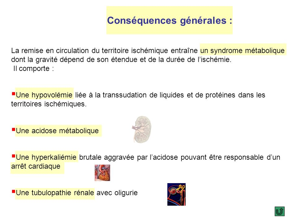 Conséquences générales :