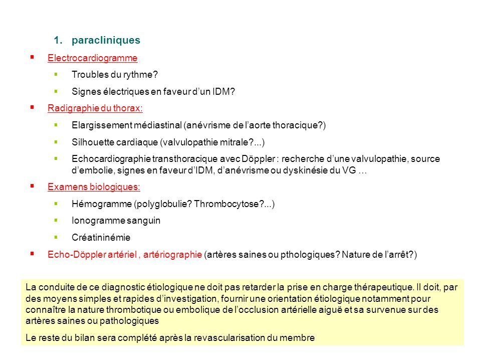 paracliniques Electrocardiogramme Troubles du rythme