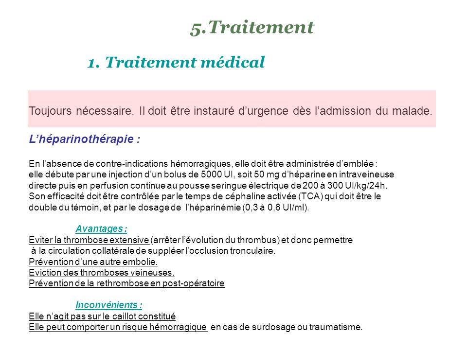 Traitement Traitement médical
