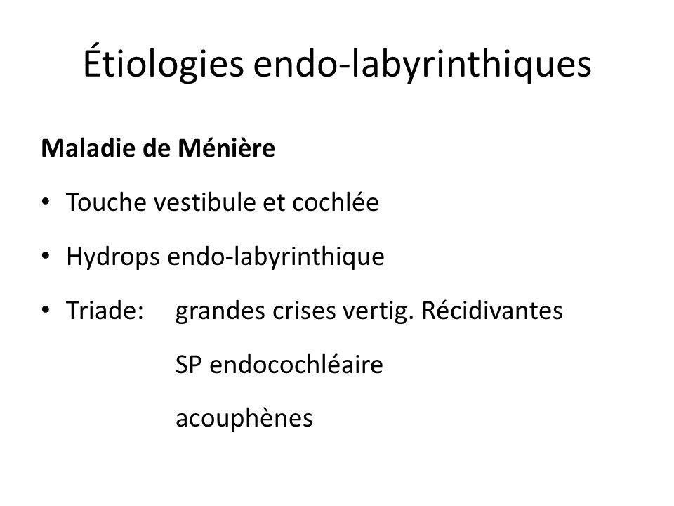 Étiologies endo-labyrinthiques