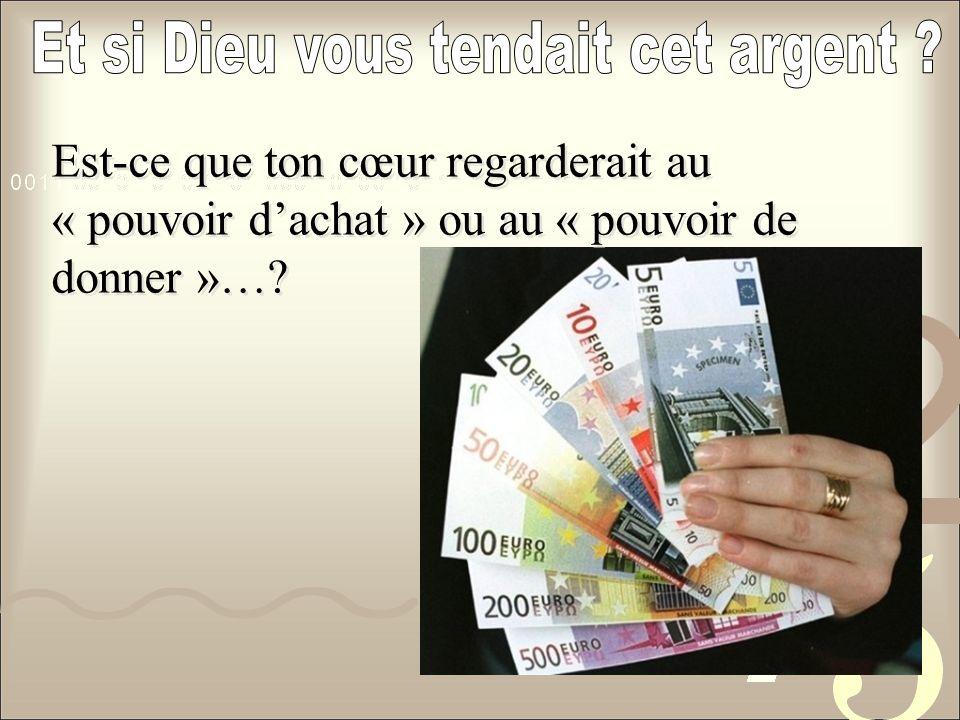 Et si Dieu vous tendait cet argent