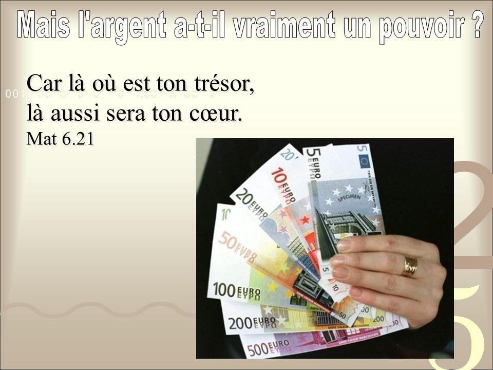 Mais l argent a-t-il vraiment un pouvoir