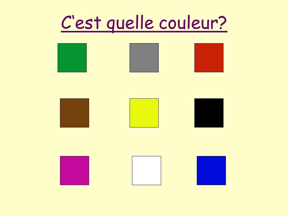 C'est quelle couleur