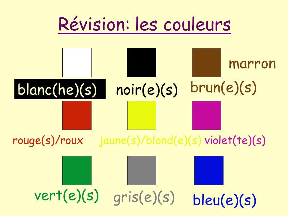 Révision: les couleurs