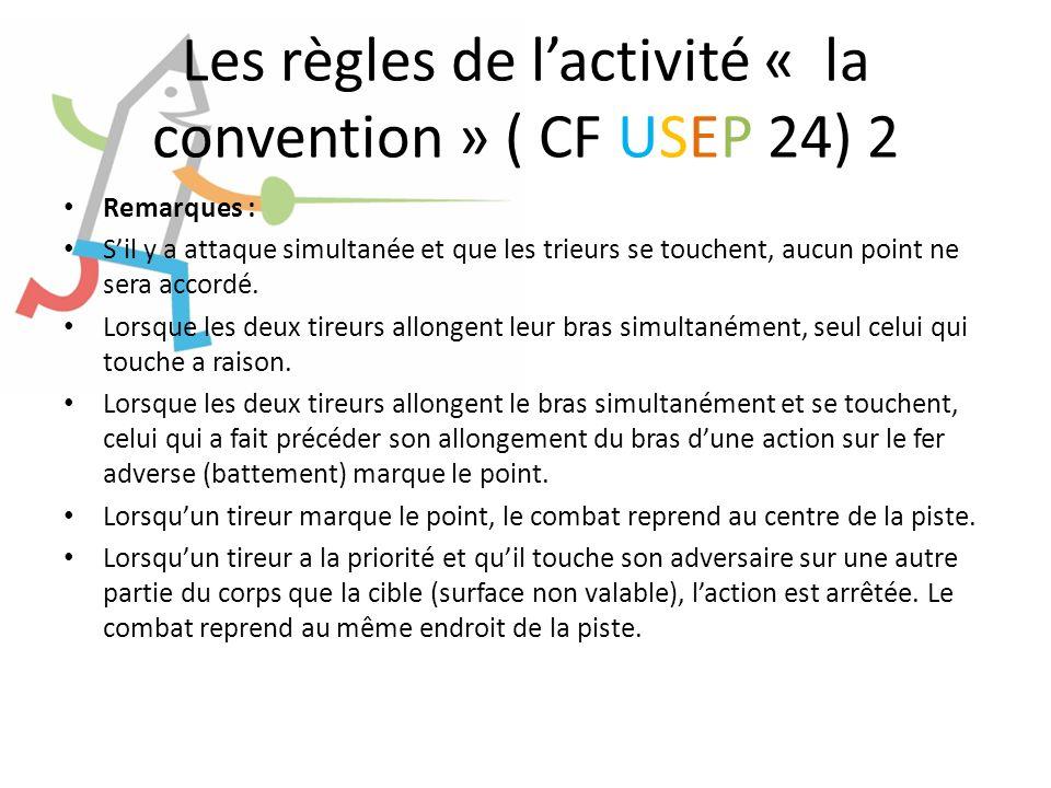 Les règles de l'activité « la convention » ( CF USEP 24) 2