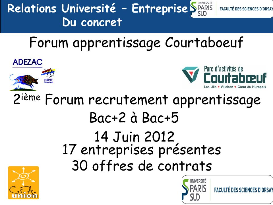 Forum apprentissage Courtaboeuf