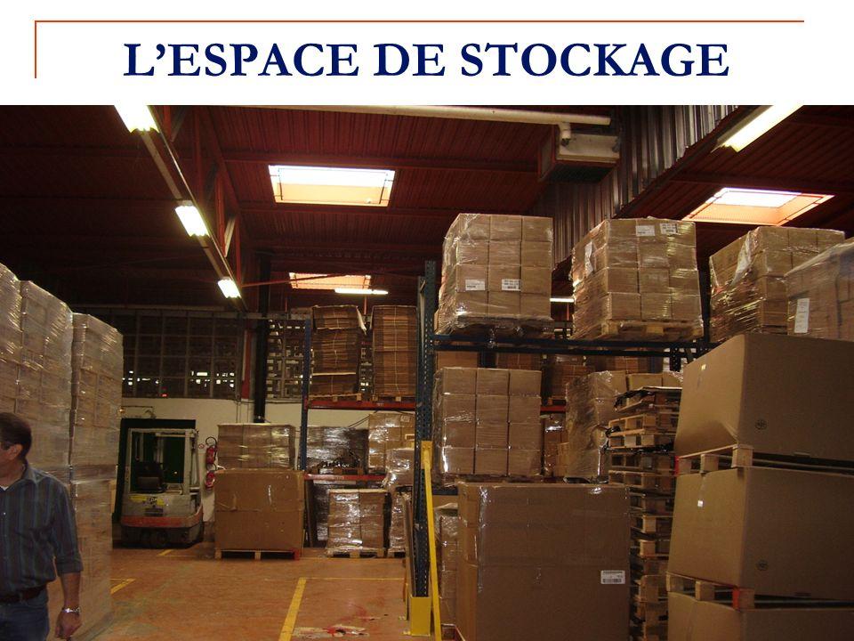L'ESPACE DE STOCKAGE