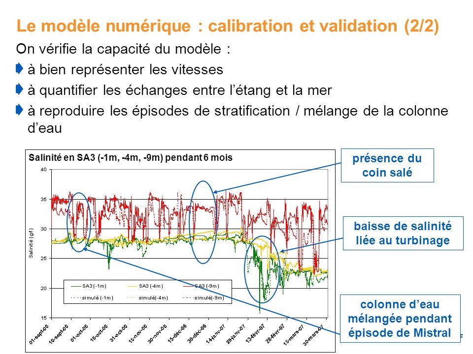 Le modèle numérique : calibration et validation (2/2)