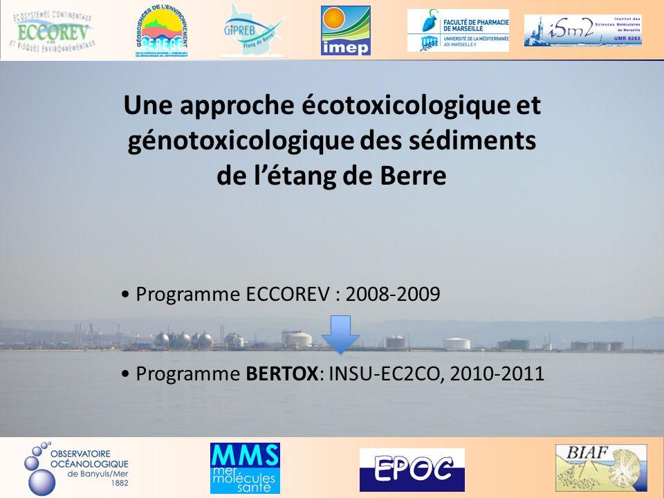 Une approche écotoxicologique et génotoxicologique des sédiments