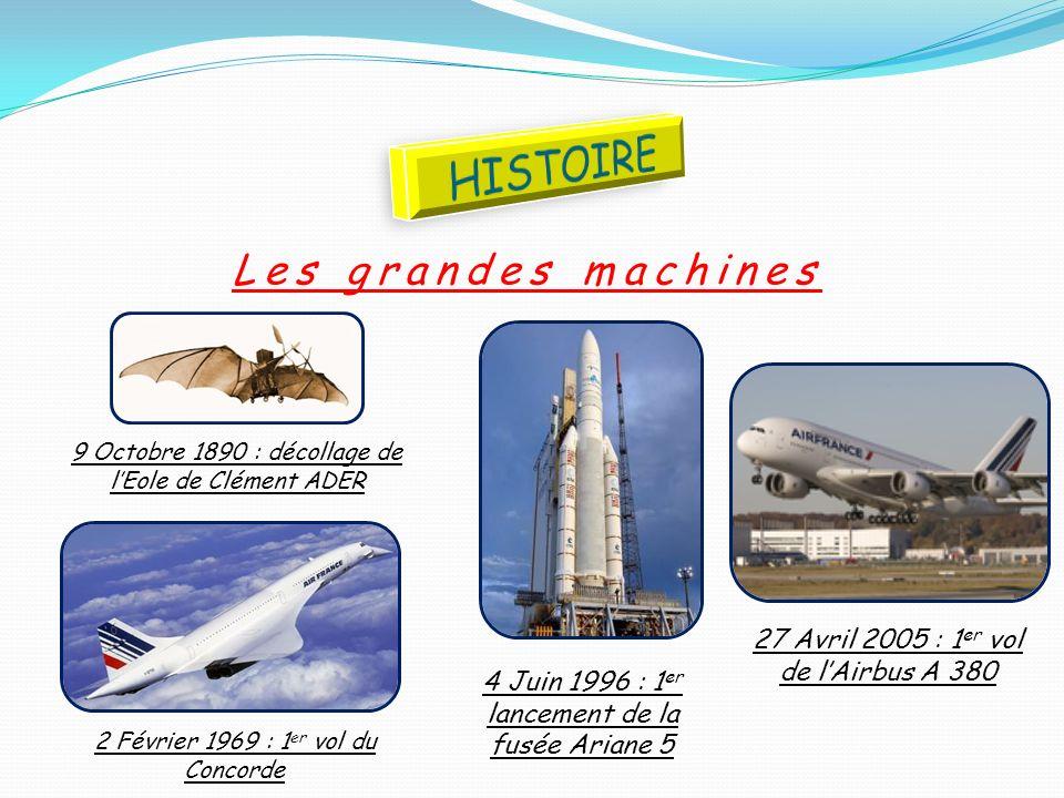 HISTOIRE Les grandes machines