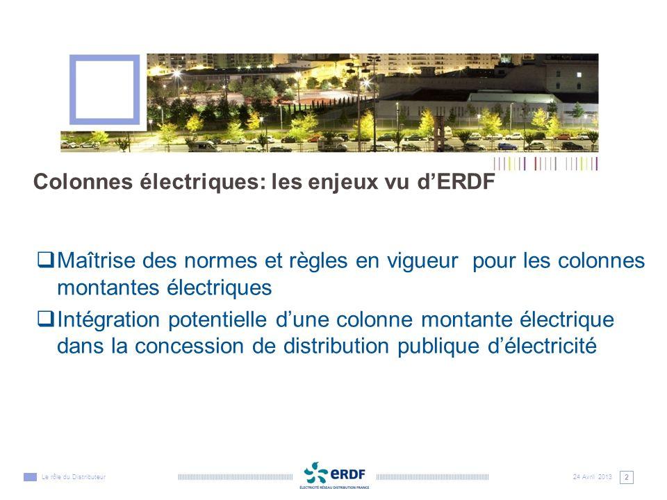 Colonnes électriques: les enjeux vu d'ERDF