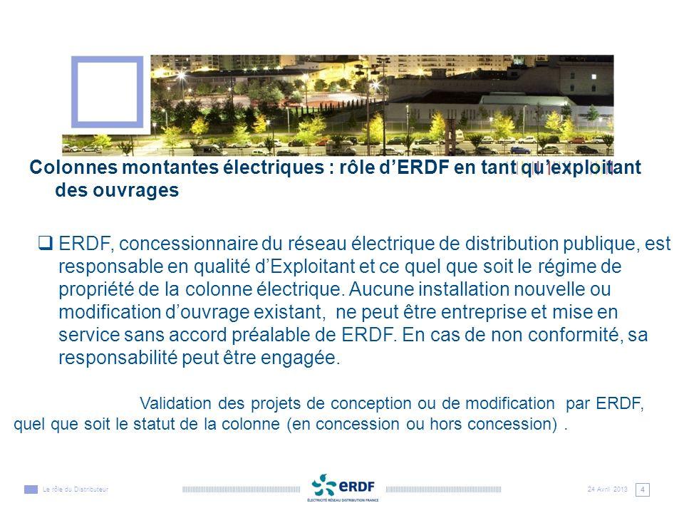 Colonnes montantes électriques : rôle d'ERDF en tant qu'exploitant des ouvrages