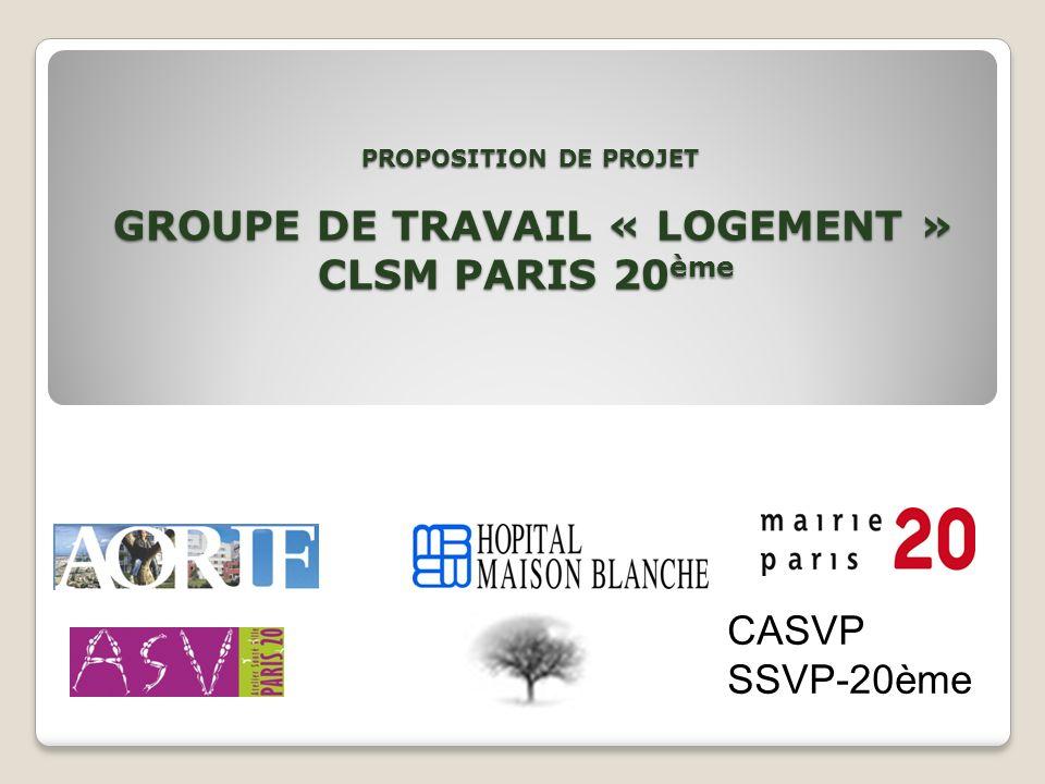 PROPOSITION DE PROJET GROUPE DE TRAVAIL « LOGEMENT » CLSM PARIS 20ème