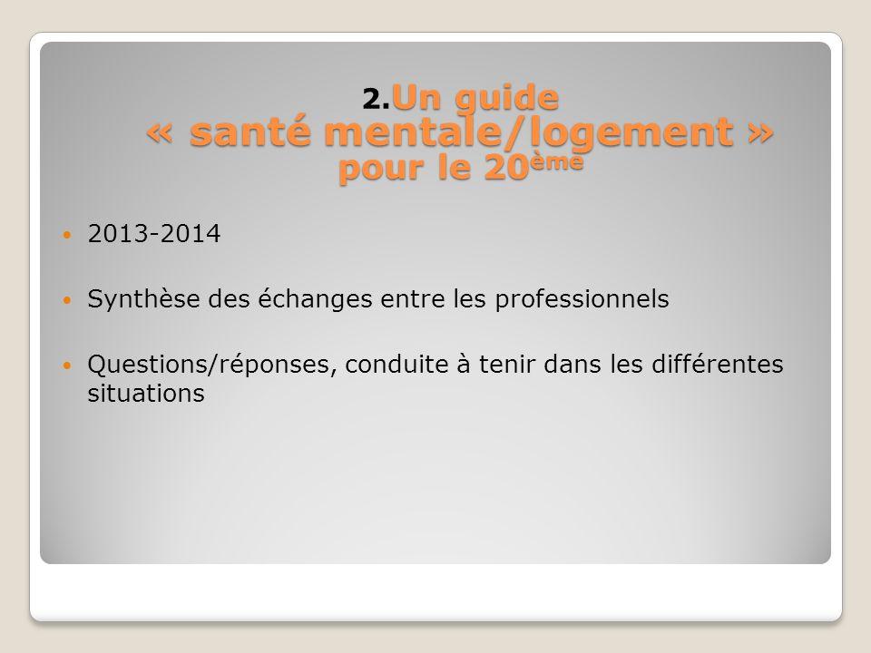 2.Un guide « santé mentale/logement » pour le 20ème