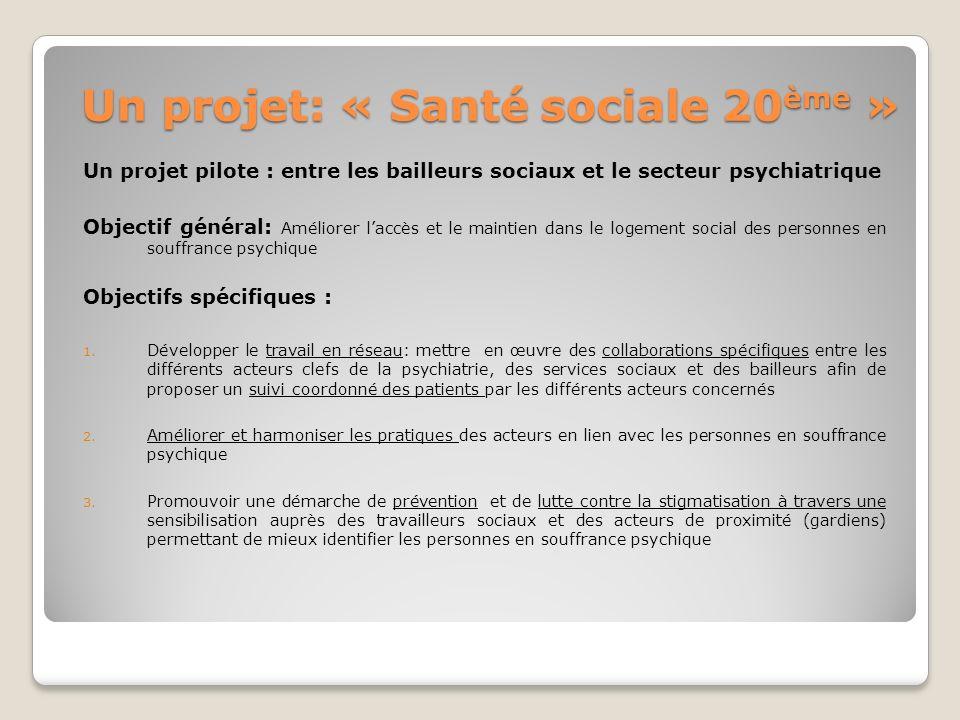Un projet: « Santé sociale 20ème »