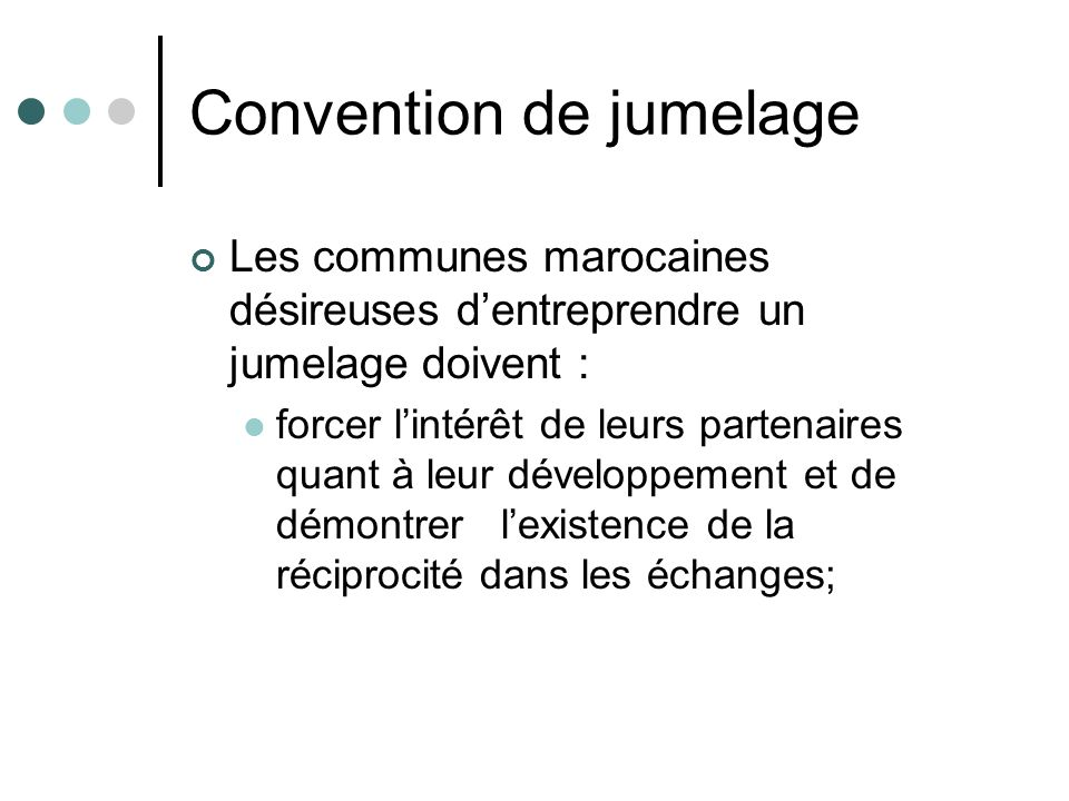 Convention de jumelage