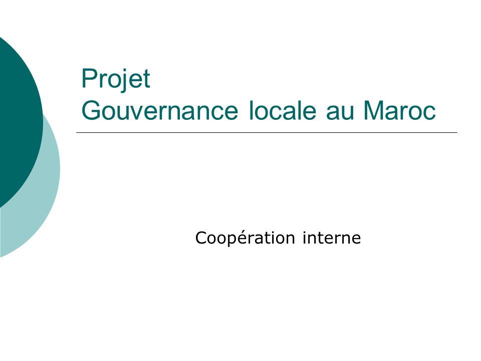 Projet Gouvernance locale au Maroc