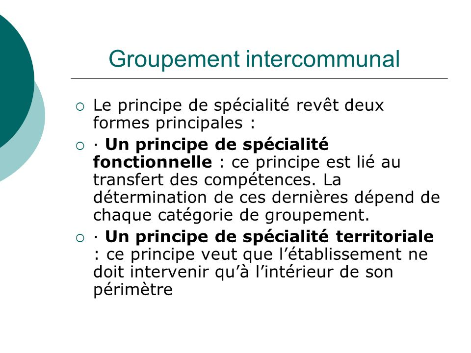 Groupement intercommunal