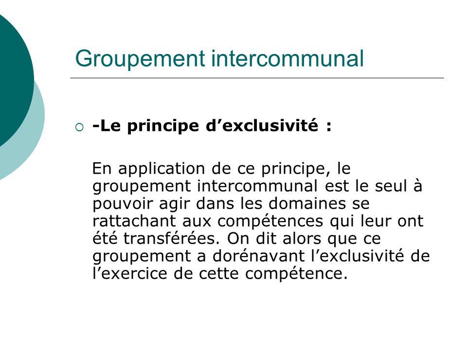 Groupement intercommunal