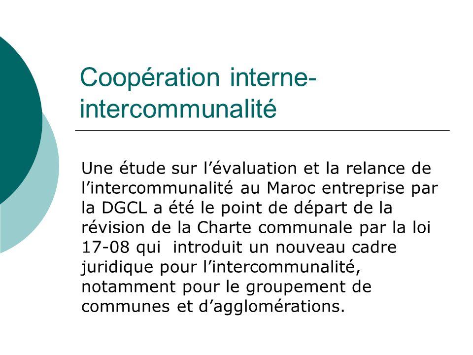 Coopération interne-intercommunalité