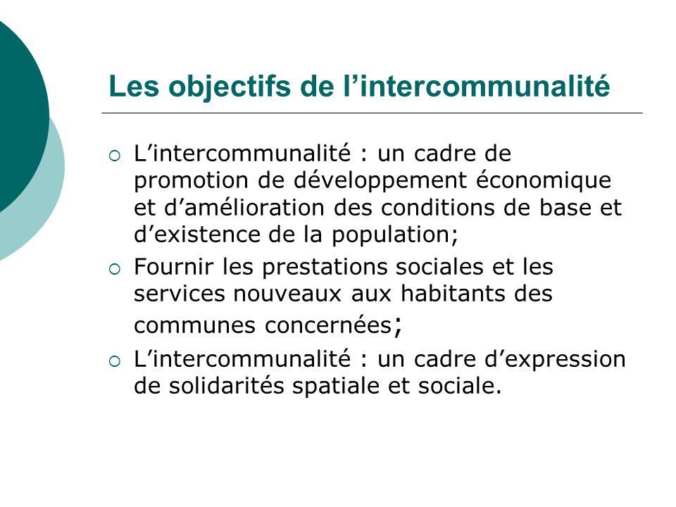 Les objectifs de l'intercommunalité