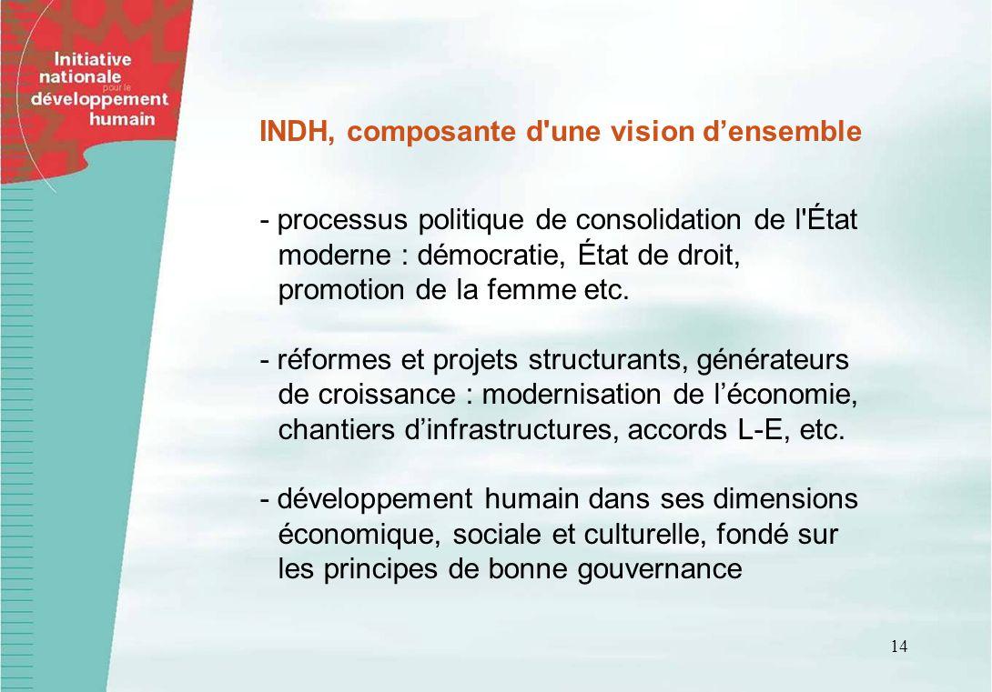 INDH, composante d une vision d'ensemble