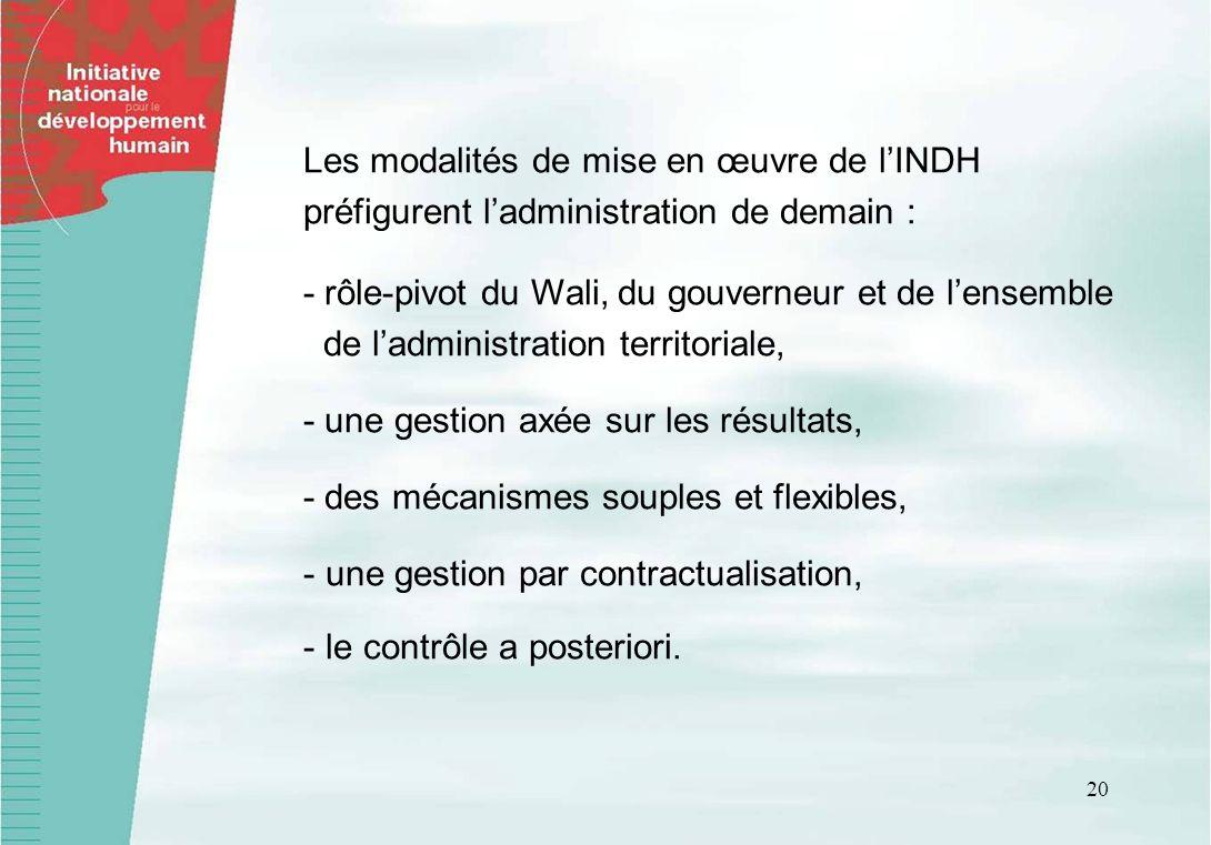 Les modalités de mise en œuvre de l'INDH préfigurent l'administration de demain :