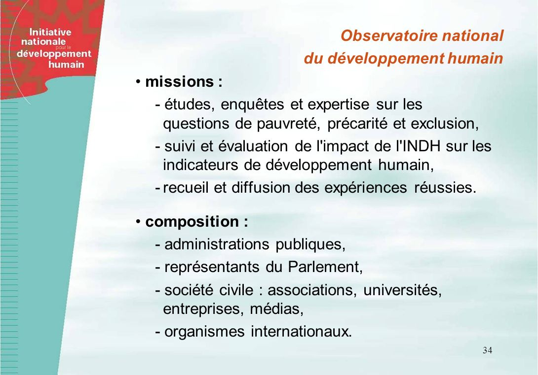 Observatoire national du développement humain