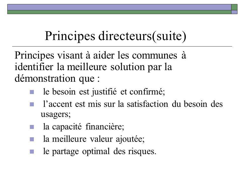 Principes directeurs(suite)