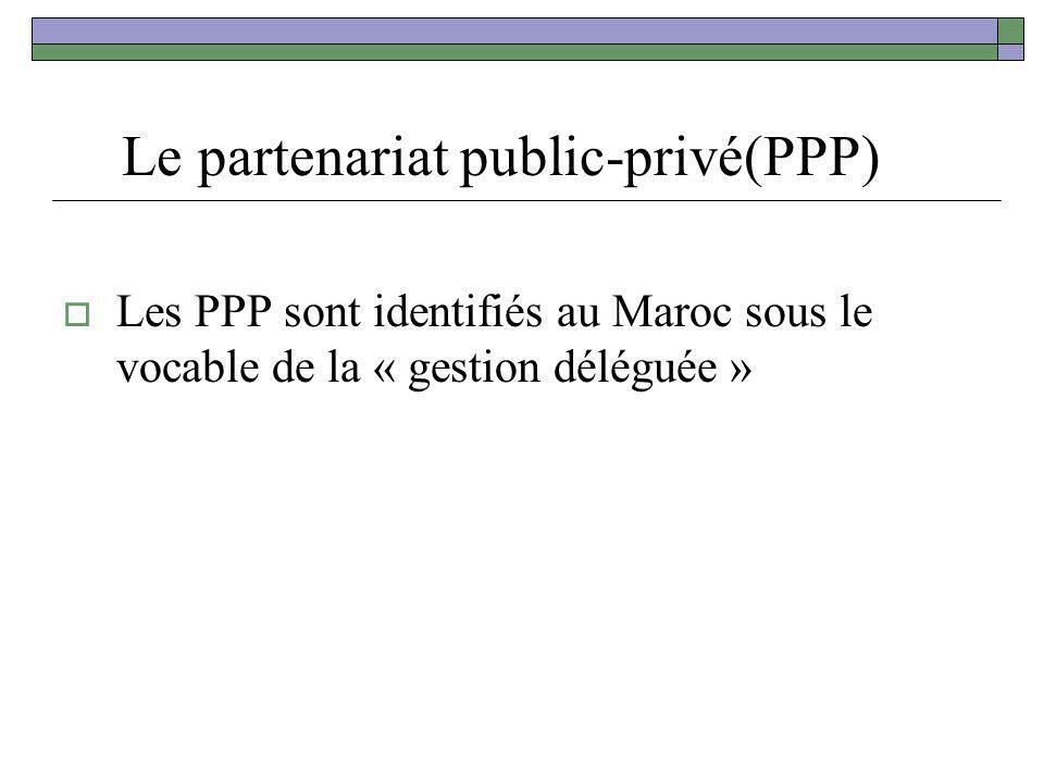 Le partenariat public-privé(PPP)