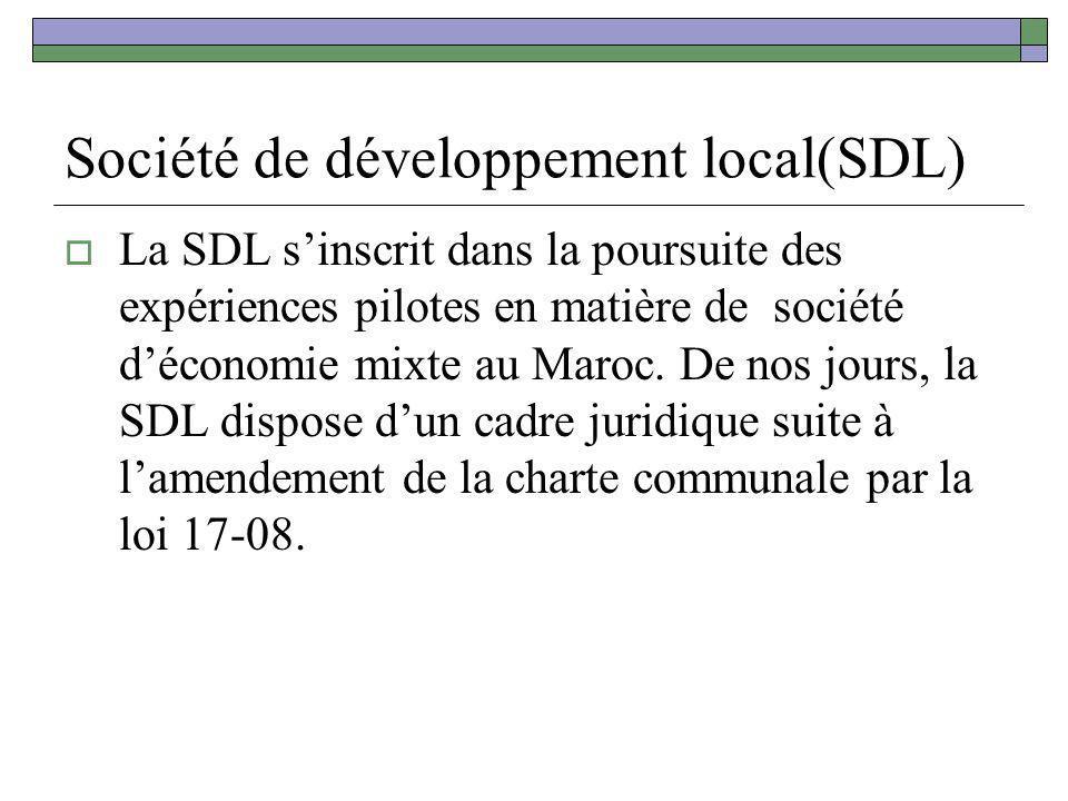 Société de développement local(SDL)
