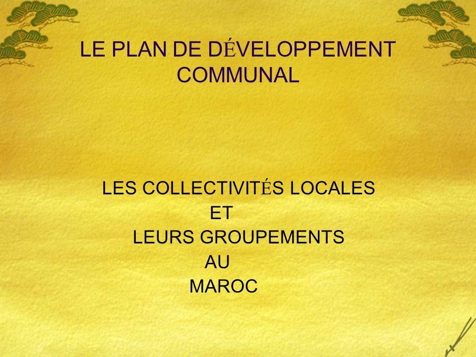 LE PLAN DE DÉVELOPPEMENT COMMUNAL