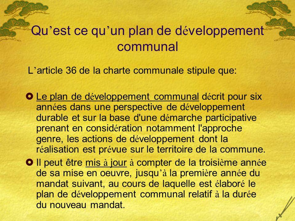 Qu'est ce qu'un plan de développement communal