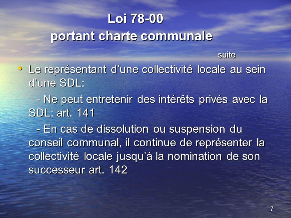 Loi 78-00 portant charte communale suite
