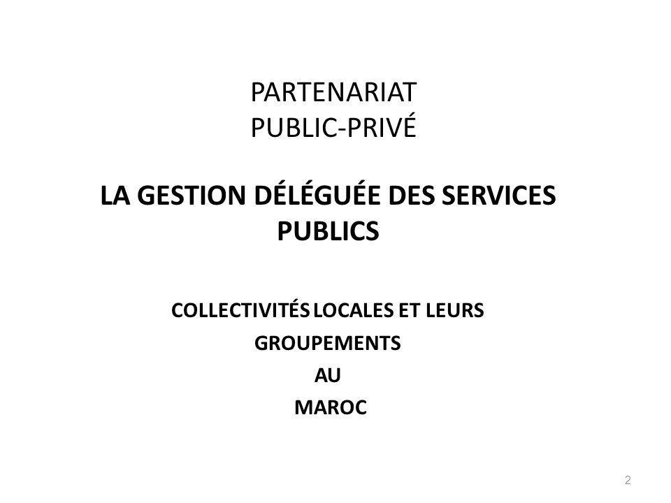 PARTENARIAT PUBLIC-PRIVÉ
