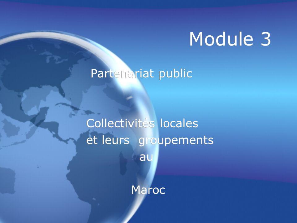 Module 3 Partenariat public Collectivités locales et leurs groupements