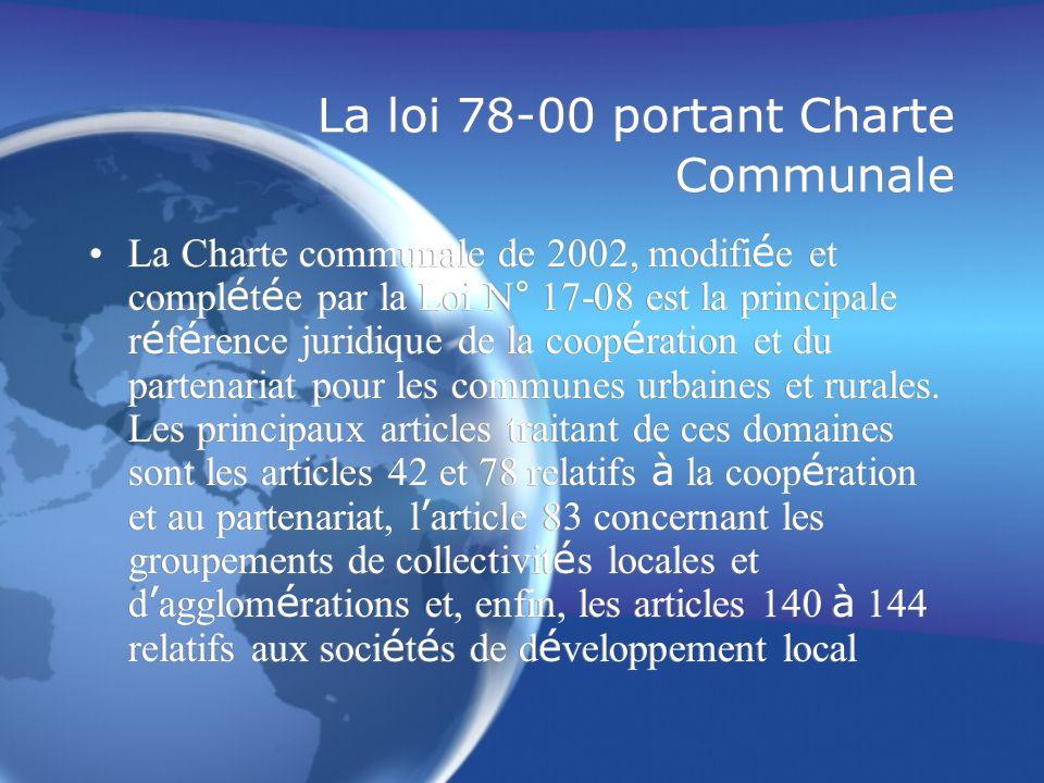 La loi 78-00 portant Charte Communale