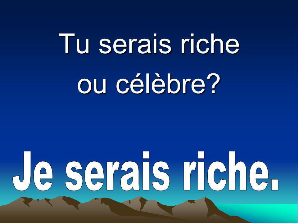 Tu serais riche ou célèbre