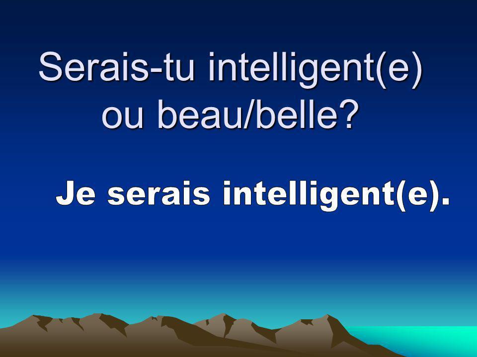 Serais-tu intelligent(e) ou beau/belle