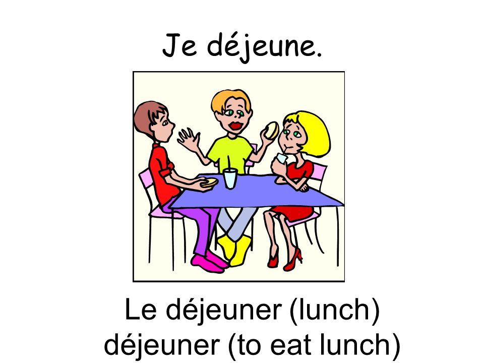 déjeuner (to eat lunch)