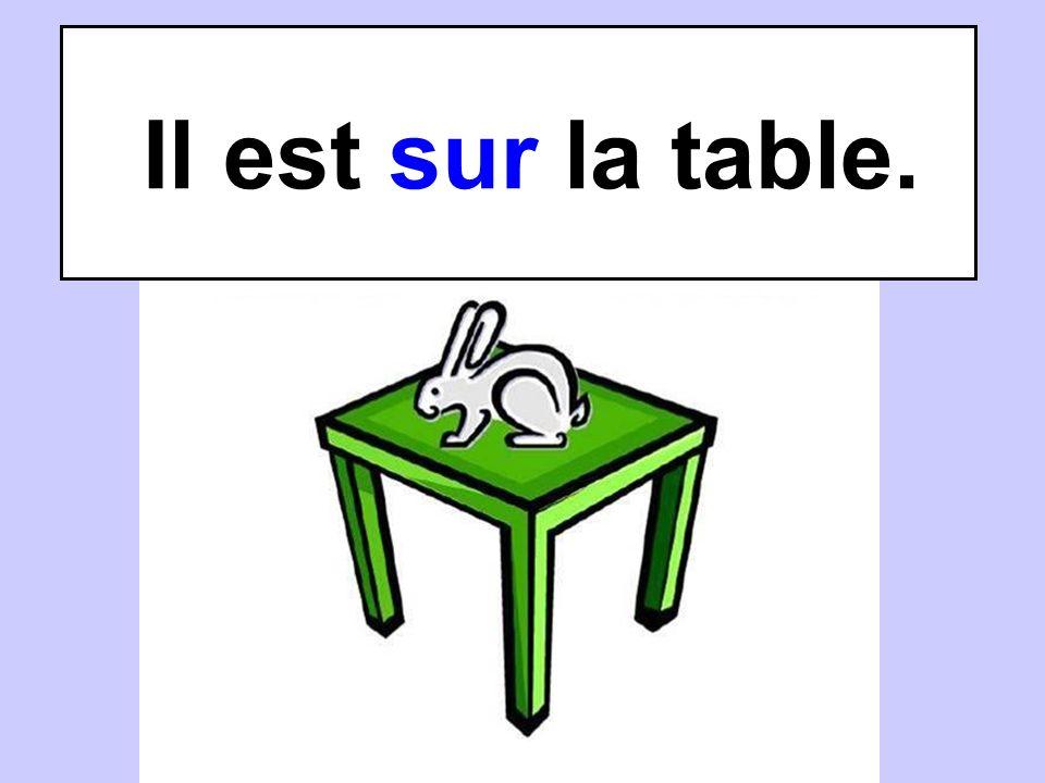 Il est sur la table.