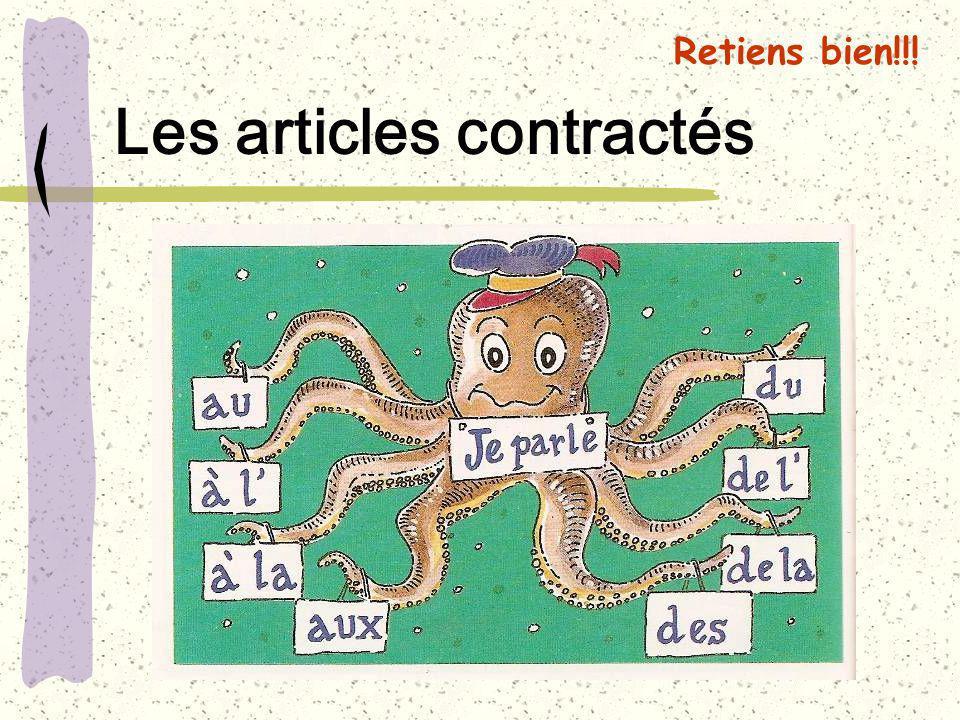 Les articles contractés