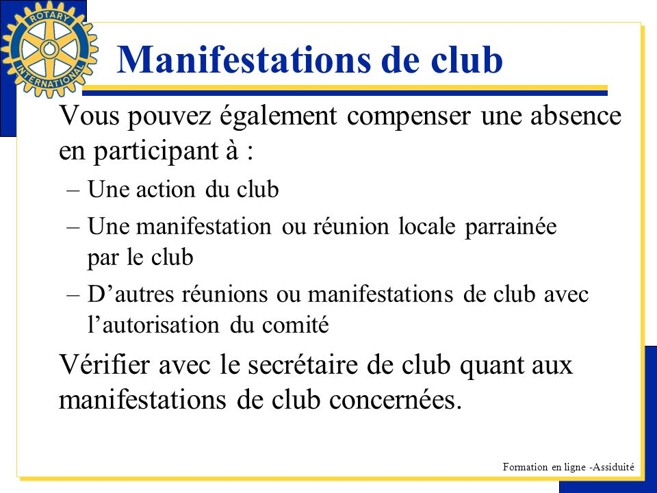 Manifestations de club