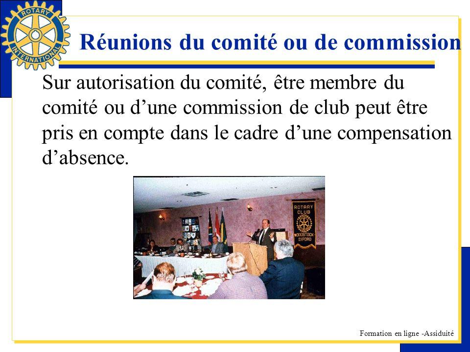 Réunions du comité ou de commission