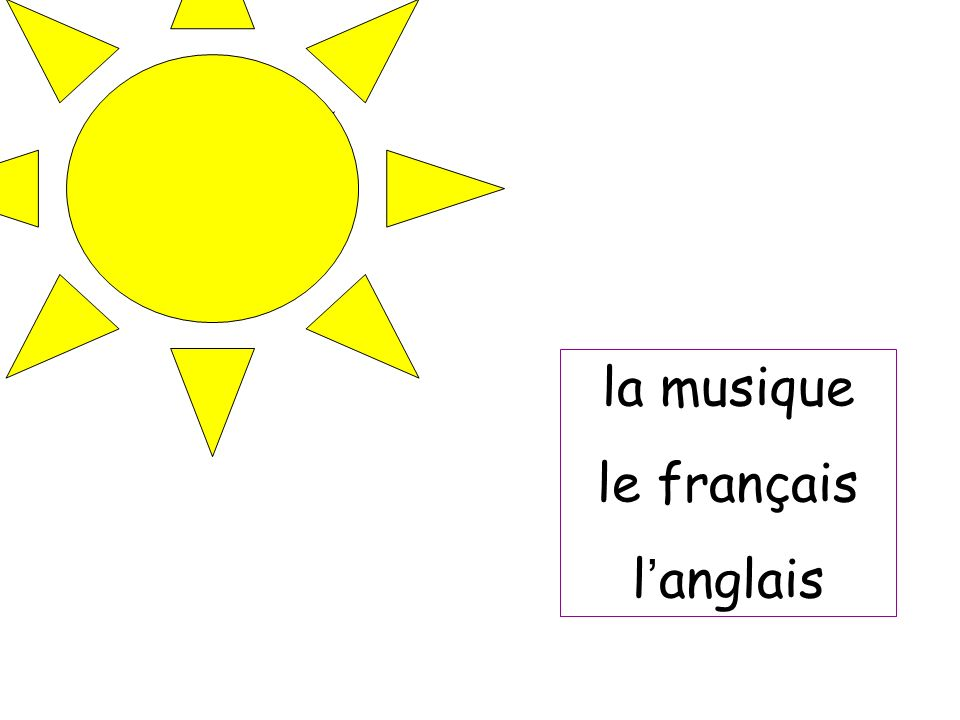 la musique le français l'anglais