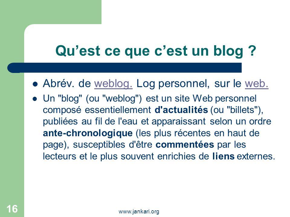 Qu'est ce que c'est un blog